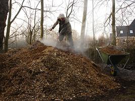 Dezintuigentuin - houtsnippers